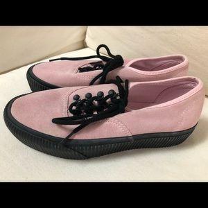 Vans Shoes | Vans Pink Suede Platform